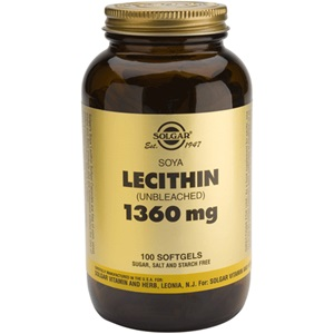 SOLGAR Lecithin 1360mg 100caps < Erp