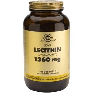 SOLGAR Lecithin 1360mg 100caps < Erp