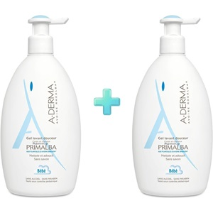 A-DERMA Primalba Baby Gentle Cleansing Gel 500ml + 500ml < Erp