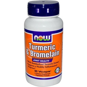 Now foods Turmeric & Bromelain 2400 GDU 300mg / 150mg. 90 Κάψουλες  < Erp
