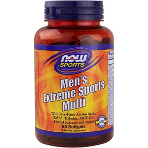 Now Mens Extreme Sports Multi, 90 softgels < Erp