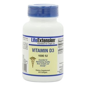 Life Extension Vitamin D3 1000IU, 250 softgels < Erp