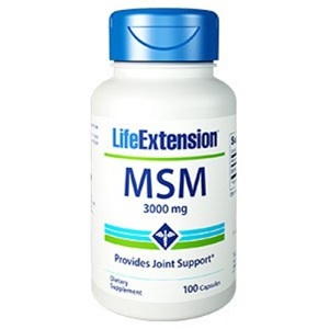 Life Extension MSM 1000mg, 100caps < Erp