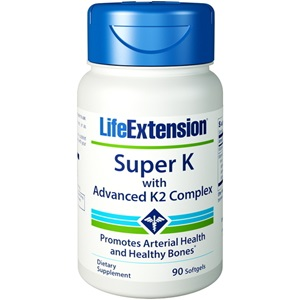 Life Extension Super K with Advanced K2 Complex, 90 softgels < Erp