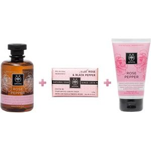 Apivita Set Rose Pepper: Κρέμα Σύσφιξης Σώματος 150ml & Αφρόλουτρο 300ml & Natural Soap 125 gr  < Erp
